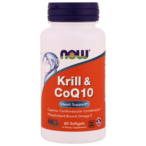 Now Foods, Krill & CoQ10, 60 Softgels Review