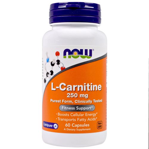 Now Foods, L-Carnitine, 250 mg, 60 Capsules Review