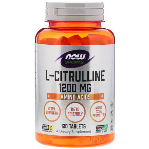 Now Foods, L-Citrulline, 1,200 mg, 120 Tablets Review