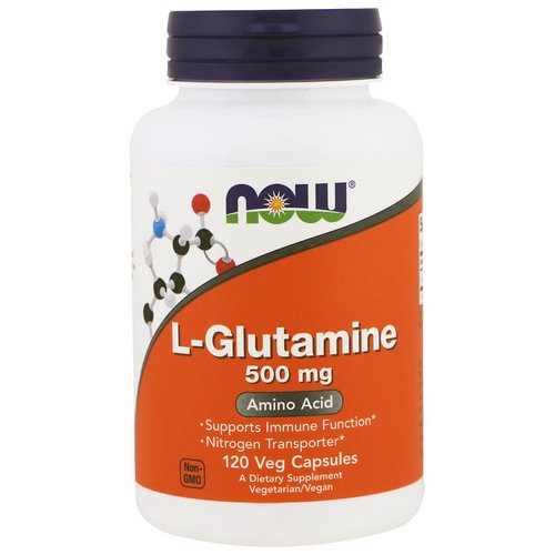 Now Foods, L-Glutamine, 500 mg, 120 Veg Capsules Review