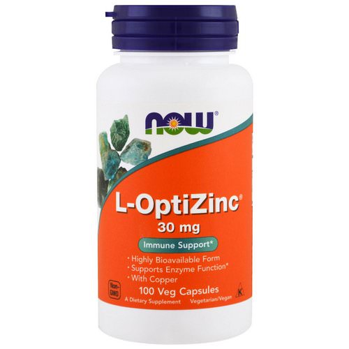 Now Foods, L-OptiZinc, 30 mg, 100 Veg Capsules Review