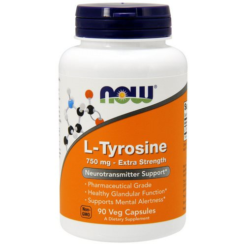 Now Foods, L-Tyrosine, Extra Strength, 750 mg, 90 Veg Capsules Review