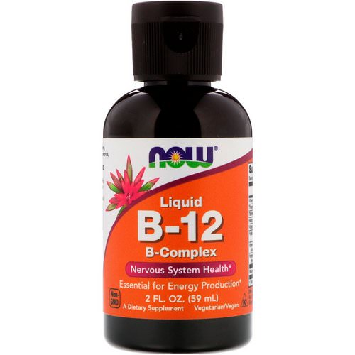 Now Foods, Liquid B-12, B-Complex, 2 fl oz (59 ml) Review