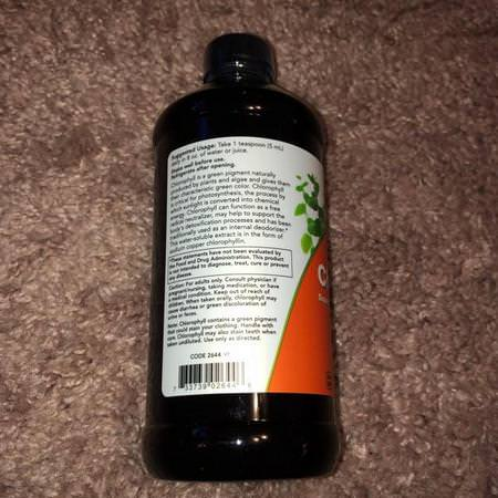 Now Foods, Liquid Chlorophyll, Mint Flavor, 16 fl oz (473 ml) Review
