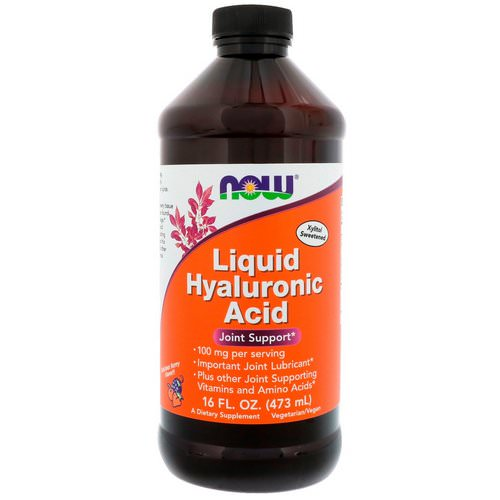 Now Foods, Liquid Hyaluronic Acid, Berry Flavor, 100 mg, 16 fl oz (473 ml) Review
