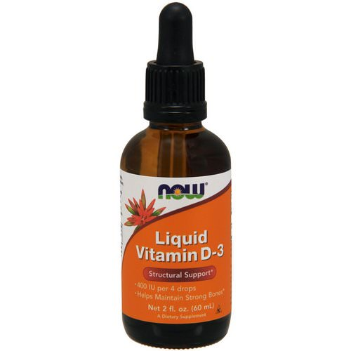 Now Foods, Liquid Vitamin D-3, 2 fl oz (60 ml) Review