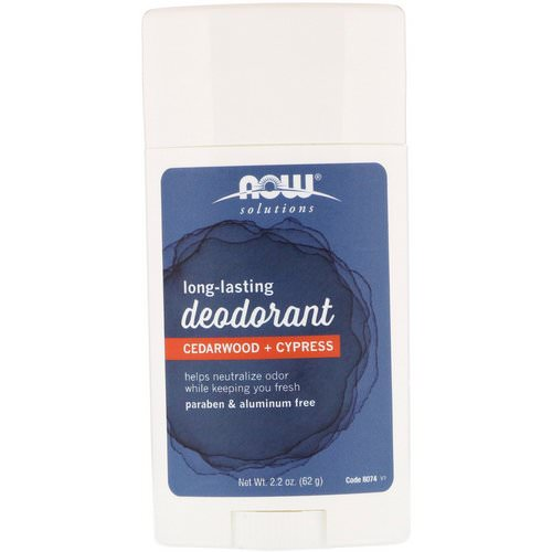 Now Foods, Long Lasting Deodorant, Cedarwood + Cypress, 2.2 oz (62 g) Review