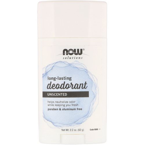 Now Foods, Long Lasting Deodorant, Unscented, 2.2 oz (62 g) Review