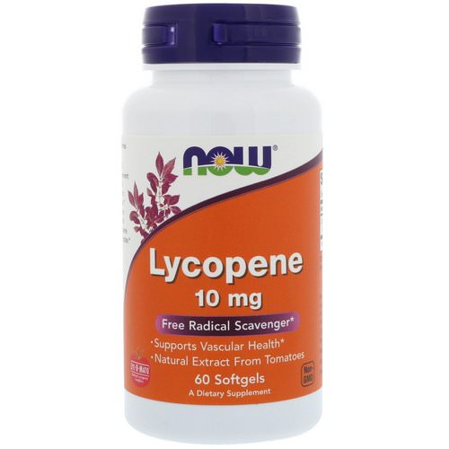 Now Foods, Lycopene, 10 mg, 60 Softgels Review