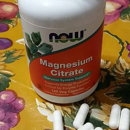 Now Foods, Magnesium Citrate, 240 Veg Capsules Review