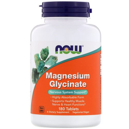 Now Foods, Magnesium Glycinate, 180 Tablets Review
