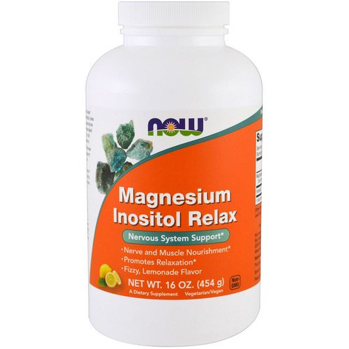 Now Foods, Magnesium Inositol Relax, Lemonade, 16 oz (454 g) Review