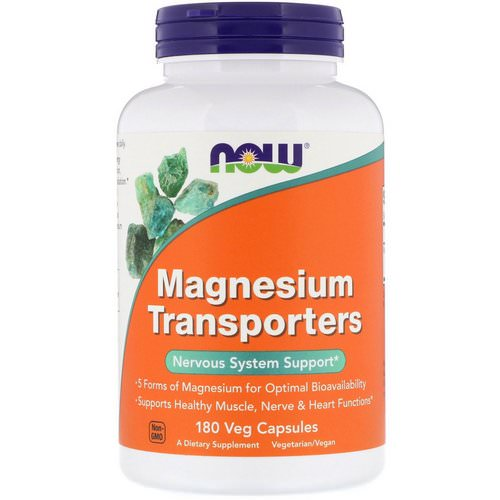 Now Foods, Magnesium Transporters, 180 Veg Capsules Review