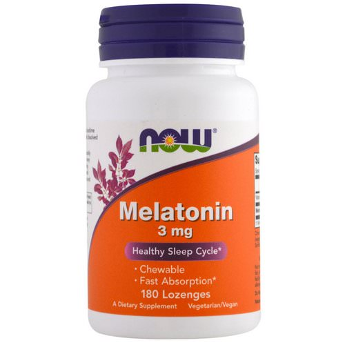 Now Foods, Melatonin, 3 mg, 180 Lozenges Review