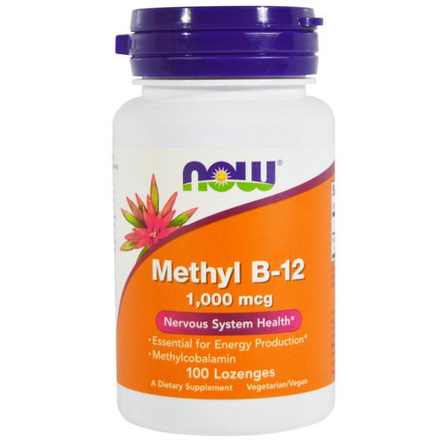 Now Foods, Methyl B-12, 1,000 mcg, 100 Lozenges Review