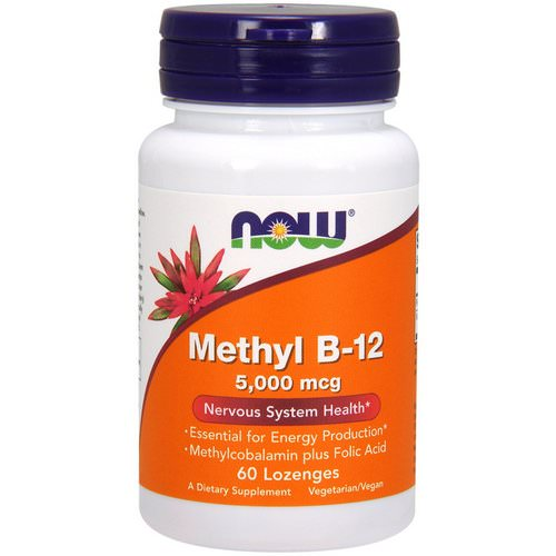 Now Foods, Methyl B-12, 5000 mcg, 60 Lozenges Review