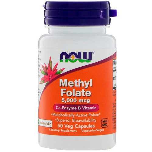 Now Foods, Methyl Folate, 5,000 mcg, 50 Veg Capsules Review