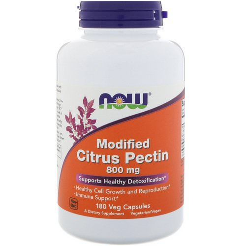 Now Foods, Modified Citrus Pectin, 800 mg, 180 Veg Capsules Review