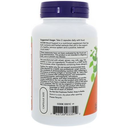 Now Foods, St. John's Wort, L-Theanine