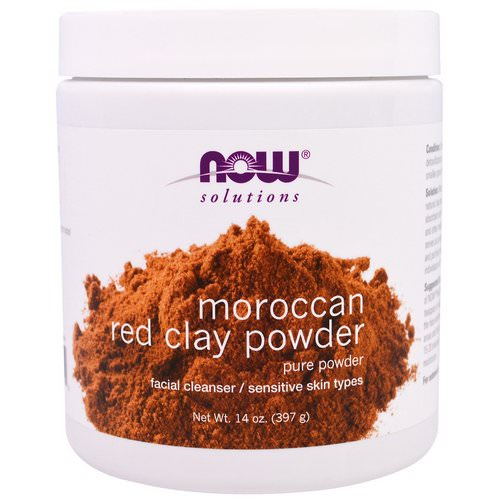 Now Foods, Moroccan Red Clay Powder, Facial Cleanser, 14 oz (397 g) Review