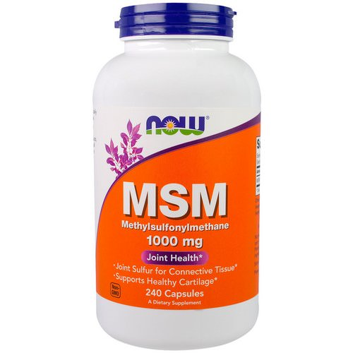 Now Foods, MSM, 1000 mg, 240 Capsules Review