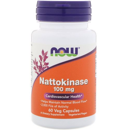 Now Foods, Nattokinase, 100 mg, 60 Veg Capsules Review