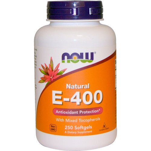 Now Foods, Natural E-400 With Mixed Tocopherols, 250 Softgels Review