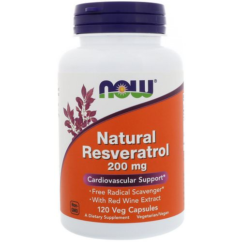 Now Foods, Natural Resveratrol, 200 mg, 120 Veg Capsules Review