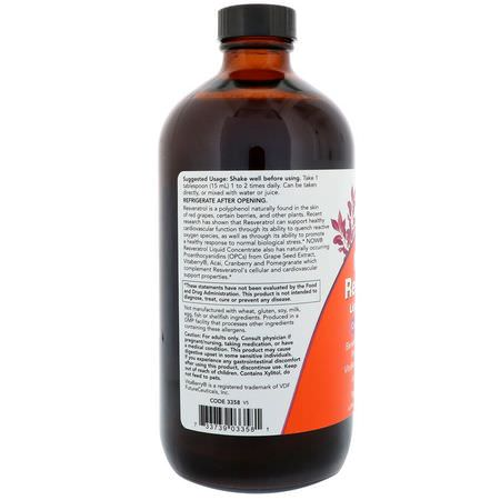 Now Foods Natural Resveratrol Liquid Concentrate
