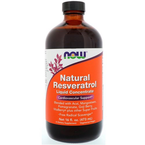 Now Foods, Natural Resveratrol, Liquid Concentrate, 16 fl oz (473 ml) Review