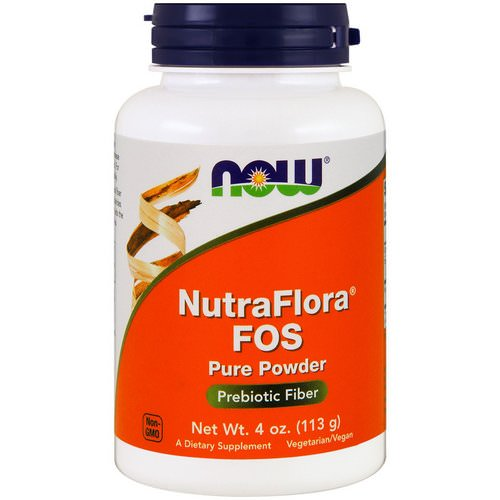 Now Foods, NutraFlora FOS, Pure Powder, 4 oz (113 g) Review