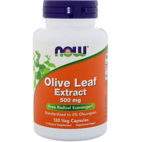 Now Foods, Olive Leaf Extract, 500 mg, 120 Veg Capsules Review