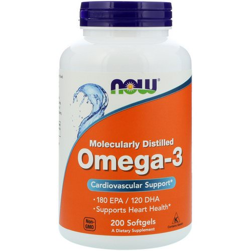 Now Foods, Omega-3, 180 EPA/120 DHA, 200 Softgels Review