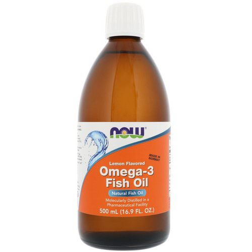 Now Foods, Omega-3 Fish Oil, Lemon Flavored, 16.9 fl oz (500 ml) Review