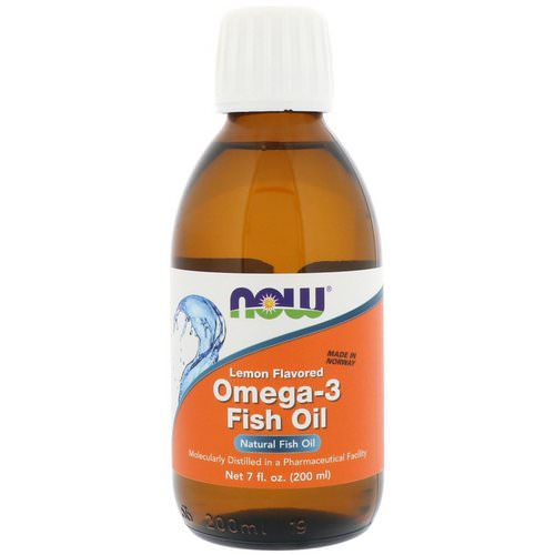 Now Foods, Omega-3 Fish Oil, Lemon Flavored, 7 fl oz (200 ml) Review