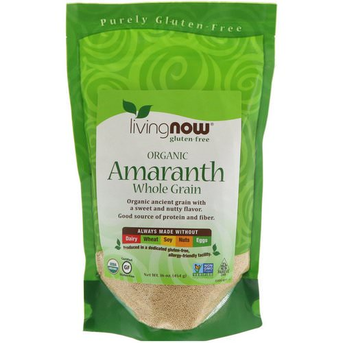 Now Foods, Organic Amaranth, Whole Grain, 16 oz (454 g) Review