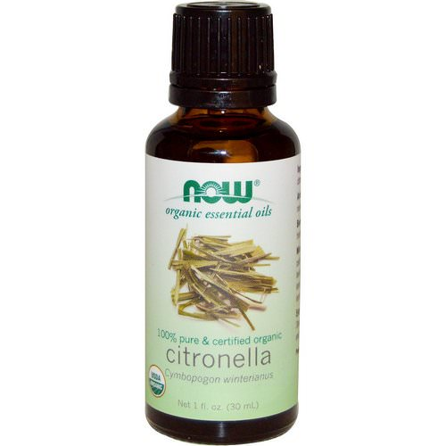 Now Foods, Organic Essential Oils, Citronella Oil, 1 fl oz (30 ml) Review