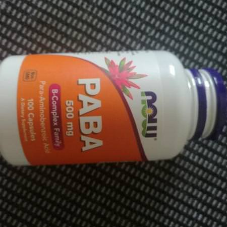 Now Foods, PABA, 500 mg, 100 Capsules Review