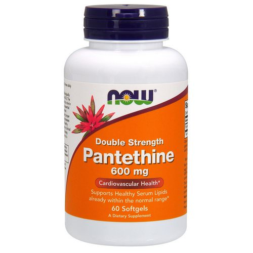 Now Foods, Pantethine, Double Strength, 600 mg, 60 Softgels Review