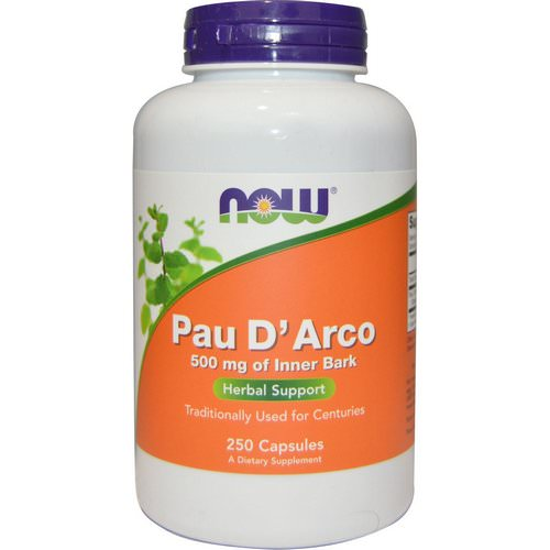 Now Foods, Pau D' Arco, 500 mg, 250 Capsules Review