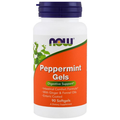 Now Foods, Peppermint Gels, 90 Softgels Review