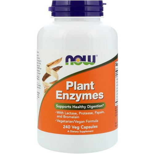 Now Foods, Plant Enzymes, 240 Veg Capsules Review