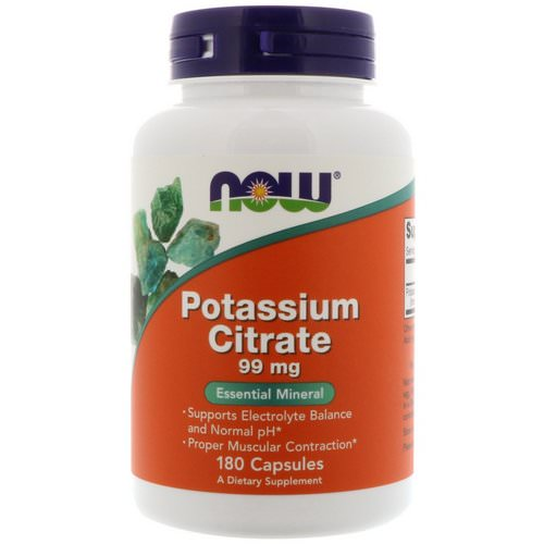 Now Foods, Potassium Citrate, 99 mg, 180 Capsules Review