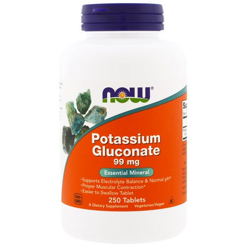 Now Foods, Potassium Gluconate, 99 mg, 250 Tablets Review
