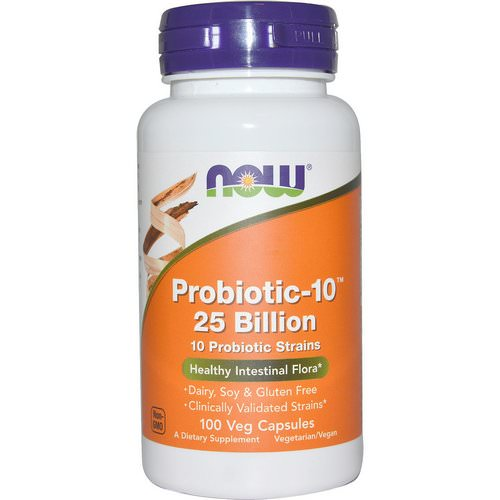 Now Foods, Probiotic-10, 25 Billion, 100 Veg Capsules Review