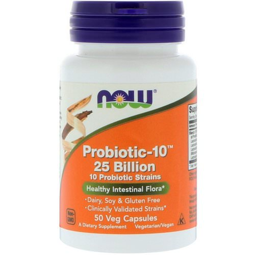 Now Foods, Probiotic-10, 25 Billion, 50 Veg Capsules Review