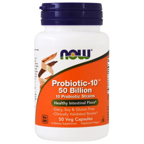 Now Foods, Probiotic-10, 50 Billion, 50 Veg Capsules Review