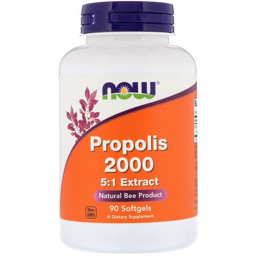 Now Foods, Propolis 2000, 5:1 Extract, 90 Softgels Review