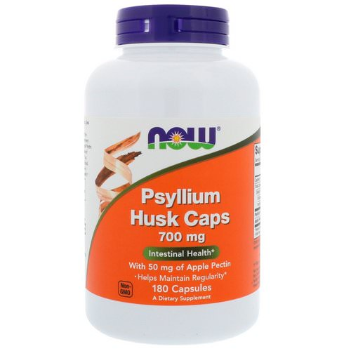 Now Foods, Psyllium Husk Caps, 700 mg, 180 Capsules Review