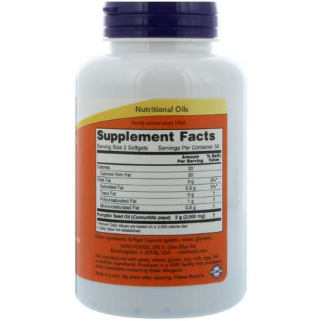 Pumpkin Seed Oil, Omegas EPA DHA, Fish Oil, Supplements
